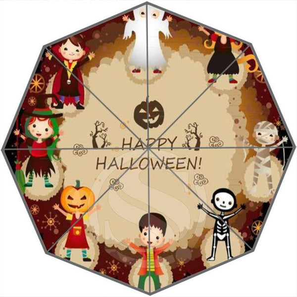 Foldable Sun And Rain Decorative Halloween Umbrellas