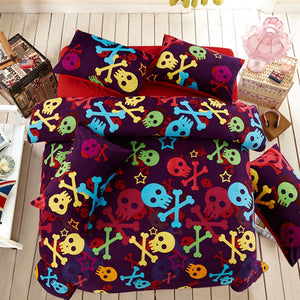 Skull Bedding Duvet Cover Set