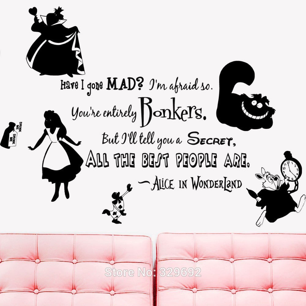 Alice in Wonderland Vinyl Sticker Decal Home Decor