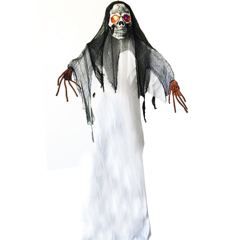 10 Feet 3 meter Giant Spooky Hanging Ghost with Light up Eyes Halloween Decoration
