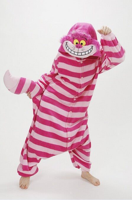 Sleepsuit Adults Cartoon Cheshire Cat Unisex Pajamas