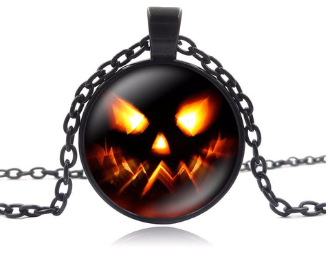 Halloween Smile 25mm Pendant Necklace