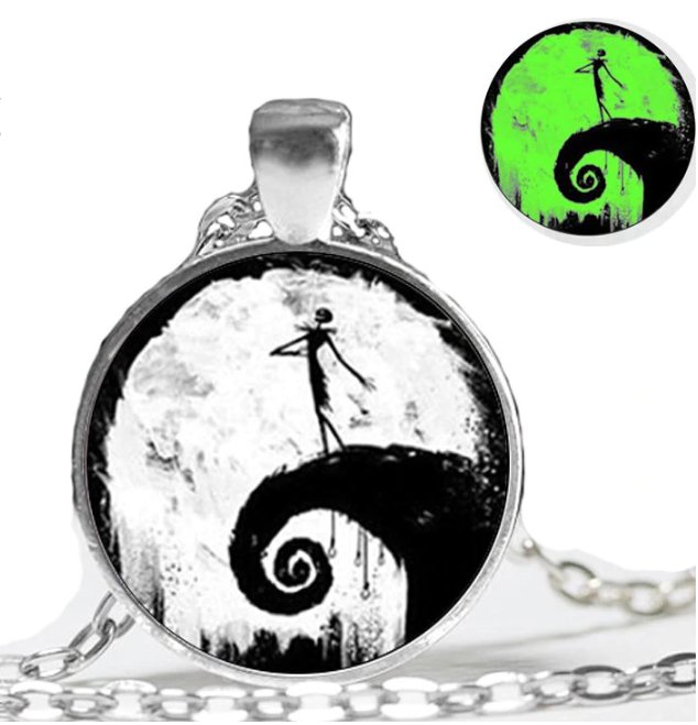 Nightmare Before Christmas  Glowing Pendant Necklace