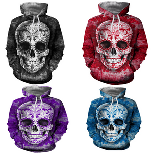 Skull Design Hooded Sweatshirt