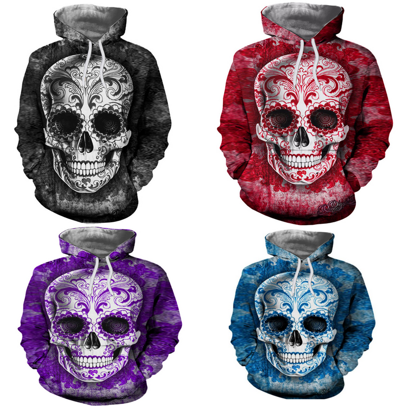 Skull Sweatshirts and Zip Ups