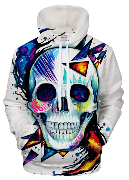 Skull By Pixie Cold Art 3D Hooded Sweatshirt