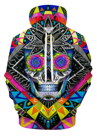 Sugar Skull By Pixie Cold Art 3D Hooded Sweatshirt