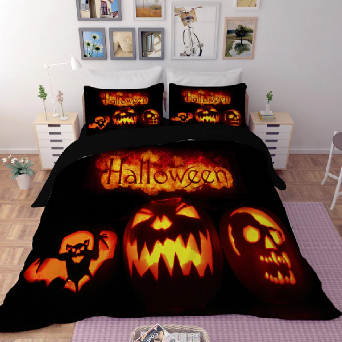 Creepy Pumpkins Duvet Bedding Set