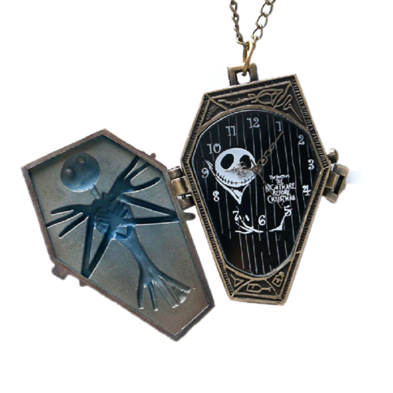 Creepy Jack Necklace Pocket Watch