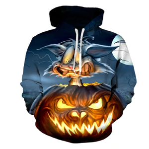 Scaredy Cat Halloween 3D Hooded Sweatshirt