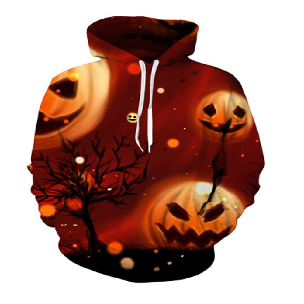 Halloween Pumpkins 3D Hooded Sweatshirt