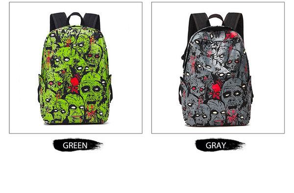 Zombie Eye Glow In The Dark Fashion Backpack