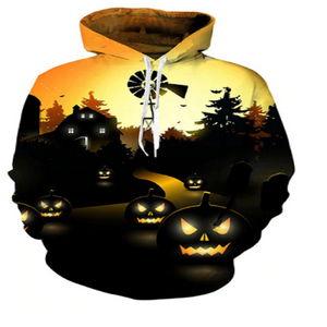 The Midnight Pumpkin 3D Hooded Sweatshirt
