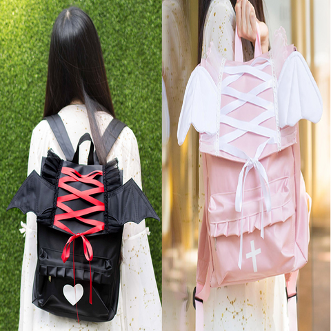 Gothic Angel/Devil  Nylon Backpack
