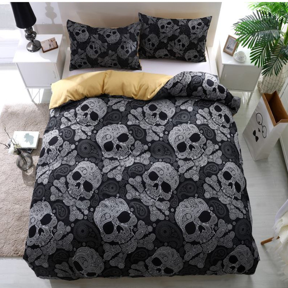 Twisted Skull Duvet Bedding Set