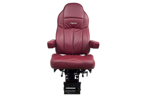 Seat Legacy Silver Ultraleather  With Arms , Burgundy