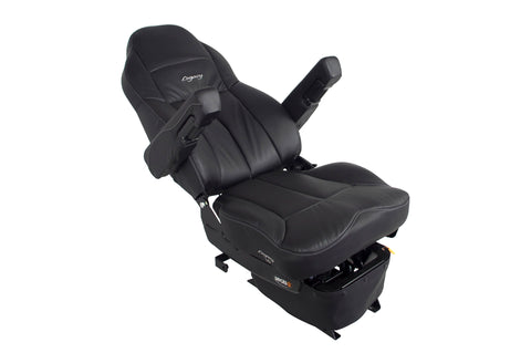 Seat Legacy Lo,  Suspension  Hb 4W Heat Msg Black Ultraleather