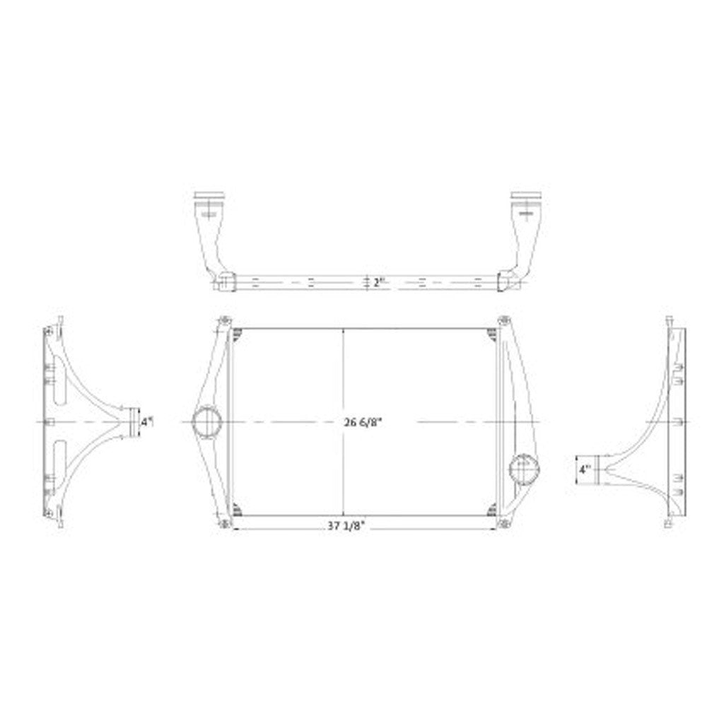 Charge Air Coolerfreightliner Columbia Fld120 2002 2008 Freightliner Tank Schematic