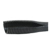 "Black Corrugated Split Loom 1/2"" 10 Ft Roll"