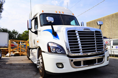 Hood Mirror With Mounting Bracket For Freightliner