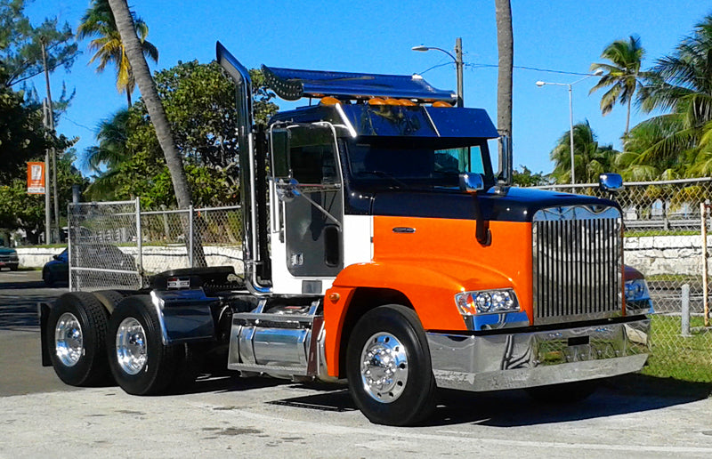 Chrome Bumpers For Fld 120 : Freightliner fld chrome bumper fits all