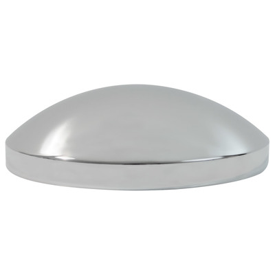 Rear Std Chrome Hub Cap, 8-1/4 Dia X 2-3/4 High