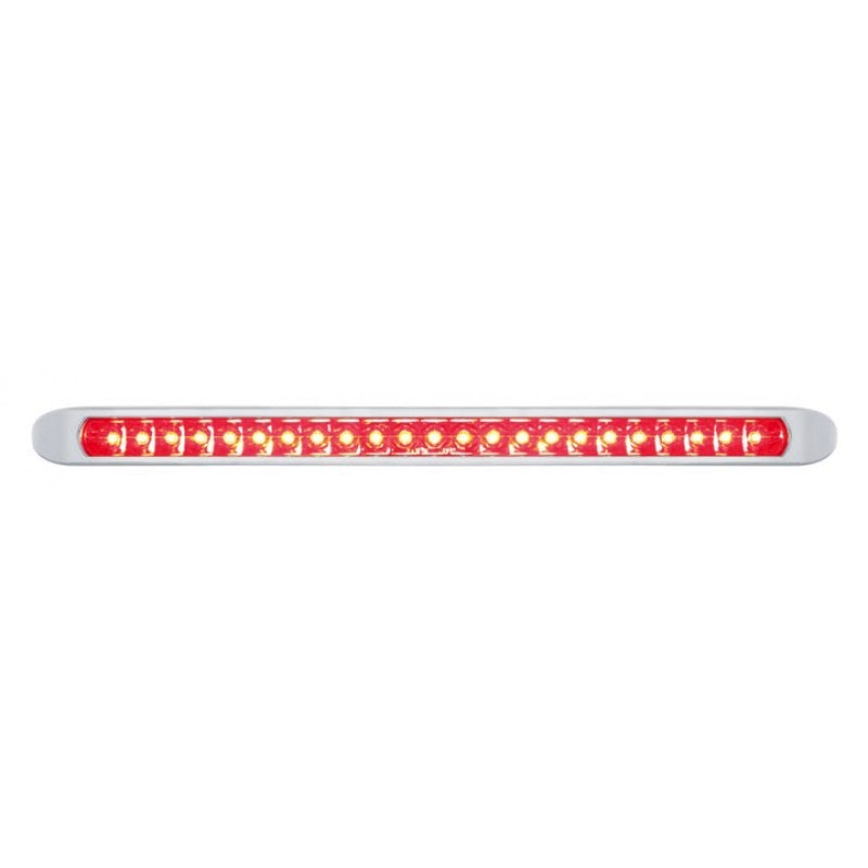 """17/"""" LED Tail Light Bar With Chrome Bezel Red LED And Lens Stop Turn Tail Light"""
