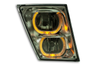 Fog Lamp fits Volvo VN / VNL 03+ with Amber/White LED Light Bar and Chrome Reflector