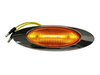 M1 Led Amber Marker Clearance Light With Bezel, .180 Male Bullet Connectors