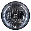 "7"" Universal Halogen Headlamp with 34 LEDs"