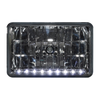 "4"" x 6"" Halogen Headlights With 9 White LEDs"