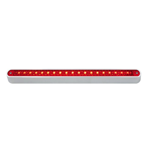 "12"" Dual Function Led Light Bar, Red/Red"