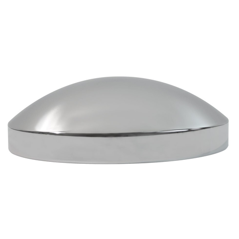 Rear Std Chrome Hub Cap, 8 Dia X 2-3/4 High