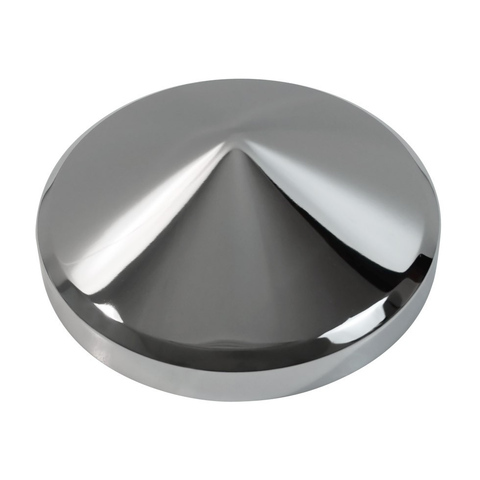 Rear Cone Chrome Hub Cap, 8-1/4 Dia X 3-3/8 High