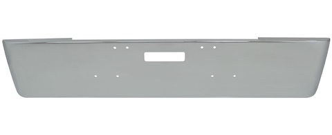"18"" Freightliner Classic Chrome Bumper Fits 2003 And Older. Rolled End, Mounting Bolt And Tow Holes"