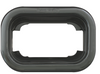 Rectangular black grommet