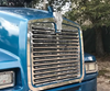 Grille Trim fits Kenworth T600 Outside Trim Without Bar Stainless Steel
