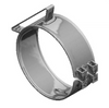 "Universal Wide Clamp 7"" Dia, Chrome"