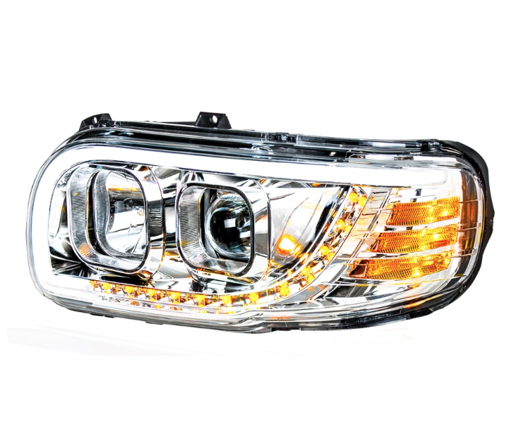 -Chrome 2008 Peterbilt CONVENTIONAL-SIDE ROOF Side Roof mount spotlight 6 inch 100W Halogen Driver side WITH install kit