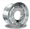 "Aluminum Wheel 22.5"" X 12.25"" ,  Outside Polish (Front), Hub Pilot Accuride"