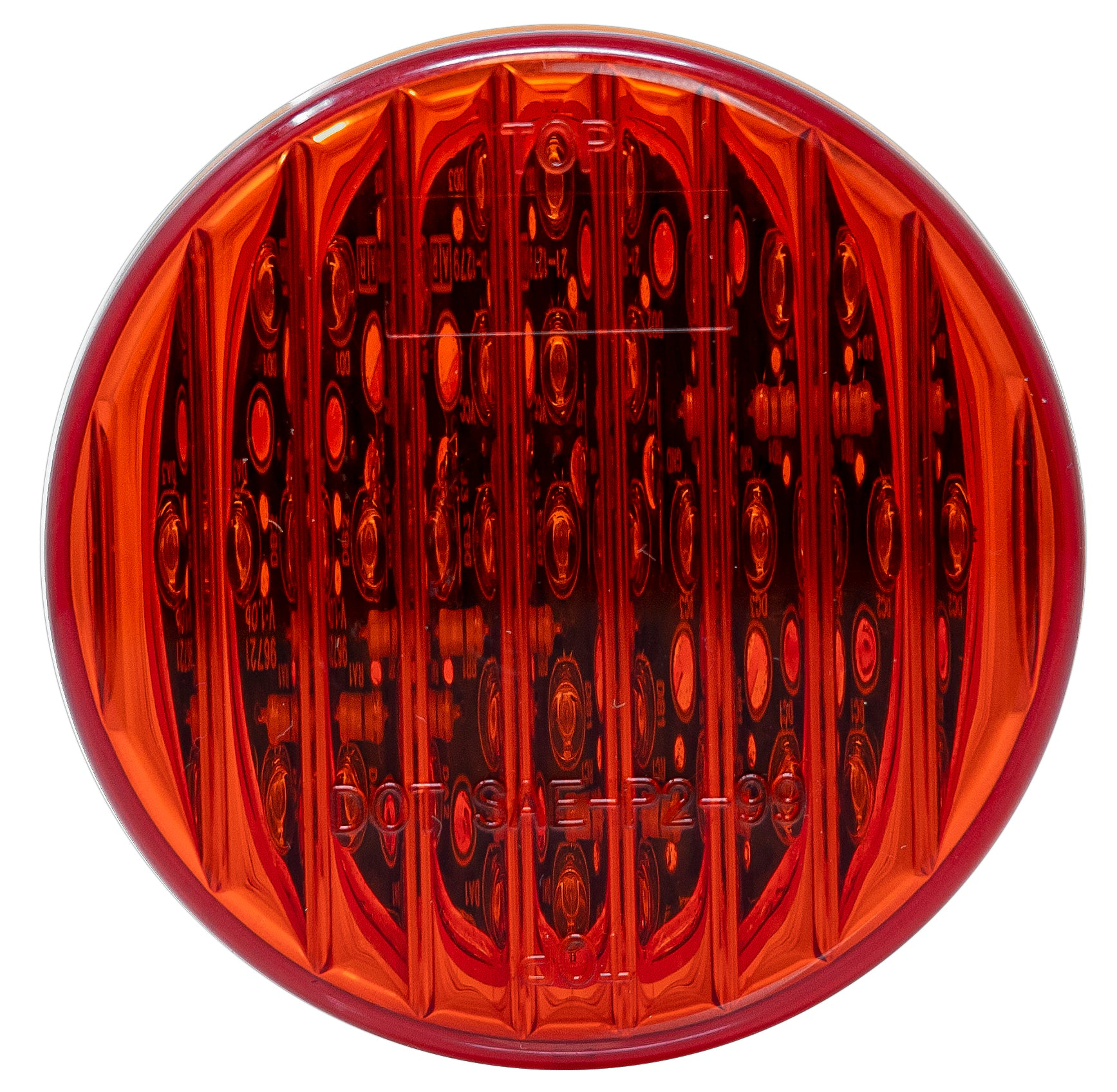 GG Grand General 76173 6 Inch Rect Spyder Red Led Light with Clear Plastic Bezel