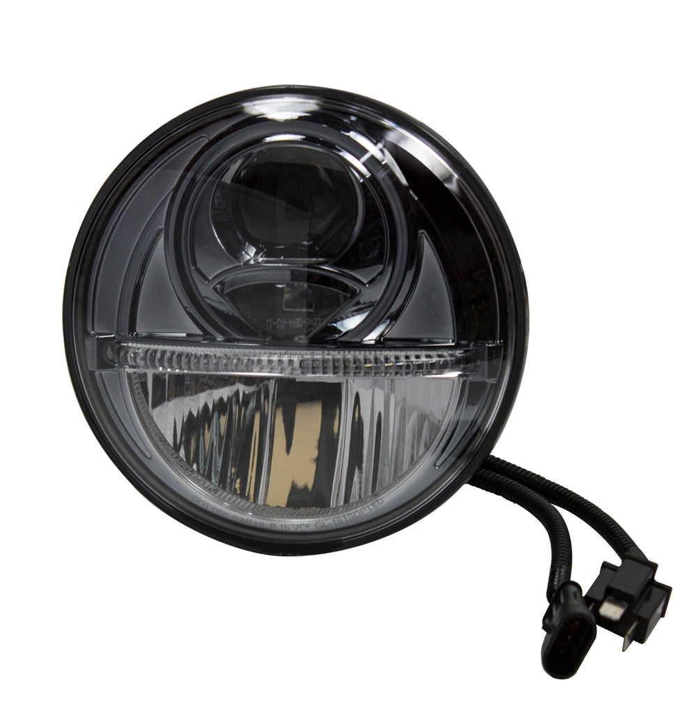 7 led headlamp with led light bar high and low beam miamistar 7 led headlamp with led light bar high and low beam aloadofball Image collections