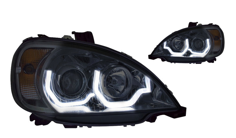 100W Halogen 6 inch Driver side WITH install kit 2014 Freightliner COLUMBIA DAYCABCONSOLE Side Roof mount spotlight -Black