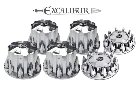 New Complete Axle Kit Cover Set Star Push In Type Excalibur W/33 Mm