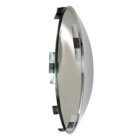 Front Std Chrome Hub Cap, 7/16 Short Lip For Steel Wheel