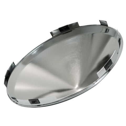 Front Cone Chrome Hub Cap, 7/16 Short Lip For Steel Wheel