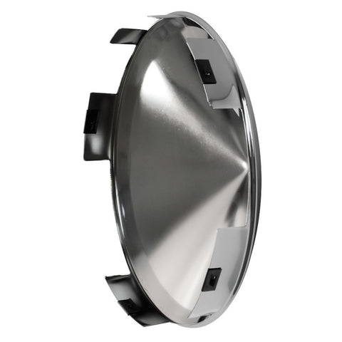 "Universal Chrome Front Hub Cap With 1"" Long Lip For Aluminum Wheels"
