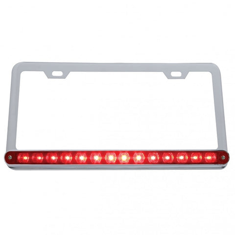 14 Led Light Bar License Frame - Red Led/Red Lens