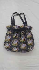 Flower of Life Drawstring Tote Bag