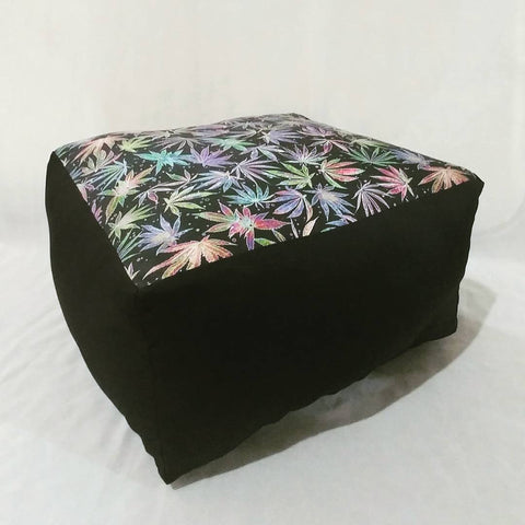 Neon Cannabis Print Floor Pillow